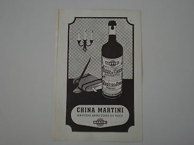 advertising Pubblicità 1948 CHINA MARTINI