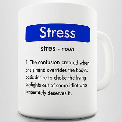 Funny Definition Coffee Mug, Meaning of Stress