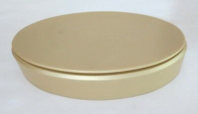 """Precious Moments Display Stands Tan Risers Oval Beveled Edge 7"""" long, 4"""" w 1.5"""""""