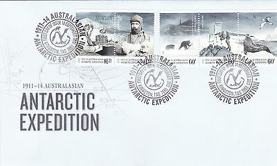 2013 AAT 1911-14 Antarctic Expedition (Gummed) FDC - 1913 Disaster & Isolation