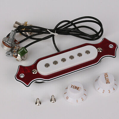 New Acoustic Guitar Pre-Wired Pickup Set Up Pots Knobs Jack