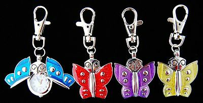 Wholesale 10 pcs Butterfly  style key ring watches gifts 4 colors L9