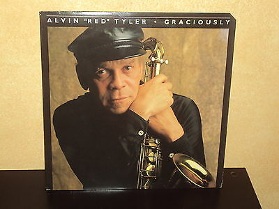 "ALVIN ""RED"" TYLER Graciously '87 ORIG ROUNDER LP Jazz EXC"