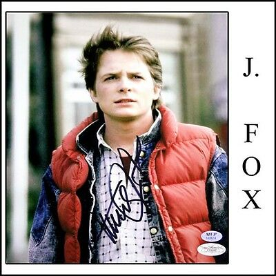 Michael J Fox Signed 8x10 Photo - 8 x 10 - Back To The Future - Marty McFly  JSA
