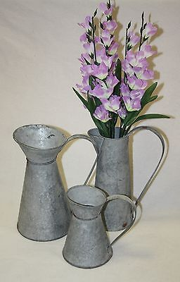 chartwell french galvanized metal jug pitchers ideal gift wedding home table dec