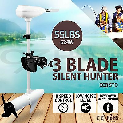 55LBS Trolling Motor Electric Inflatable Boat Marine Outboard Engine Fishing