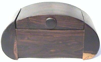 Nice Antique Original Patina Tiger Rosewood Domed Wood Trinket Watch Jewelry Box