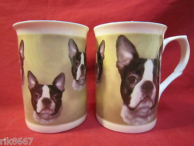 Boston Terrier  Dog English Fine Bone China Mug