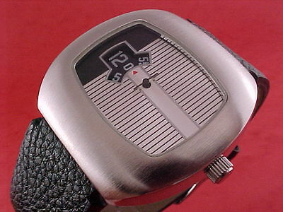 Traditional Dress Digital Jump Hour 60s 70s led lcd era Vintage Retro Watch s1