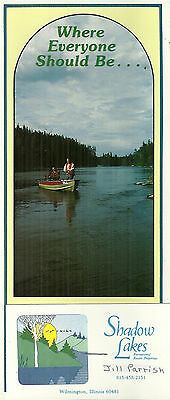 Brochure for Shadow Lakes Resort Wilmington Illinois