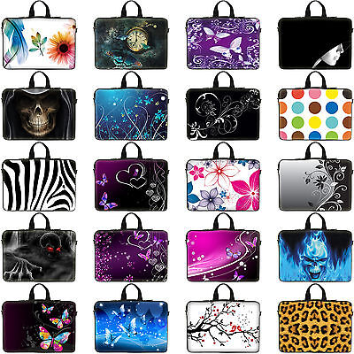 "Universal Laptop Notebook Sleeve Bag w Hidden Handle Fit ASUS Dell 17"" 17.3"""