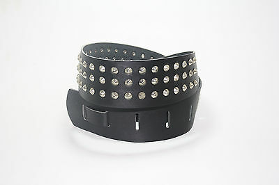 CONICAL STUDDED Guitar Strap. GENUINE Leather, made in Birmingham, England!
