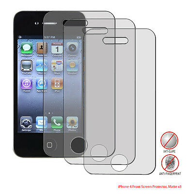 3x Premium Anti-Glare&Matte Screen Protecter for iPhone 4S / 4G w/Cleaning Cloth
