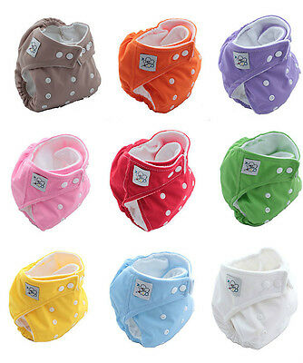 Free Ship 1pcs New Brand Baby Color Washable Reusable Nappies Cloth Diaper Nappy