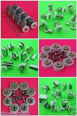 Set of 8 Shower Door Rollers/Runners/ Wheels 19mm 23mm 25mm 27mm in diameter MIX