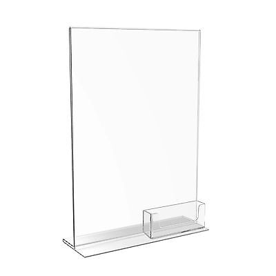A6 DL A5 A4 Menu Poster Holders Acrylic Perspex Display Stands and Business Card