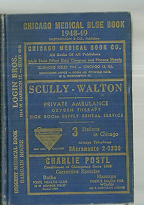 1948-49 Chicago Medical Blue Book Directory