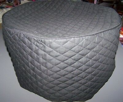 Black (or color choice) Quilted Fabric Round Crock Pot Cover NEW