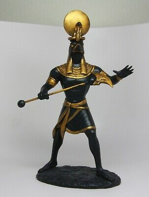 Ancient Egyptian Sculpture Solar Deity Sun God Ra Figurine Decoration Statue