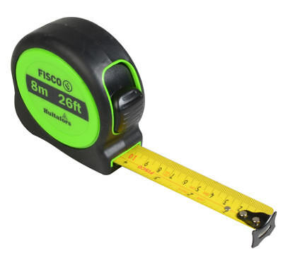 Stanley 8m (26ft) Hi-Viz Tape Measure, Shock Resistant + Belt Clip, 074137