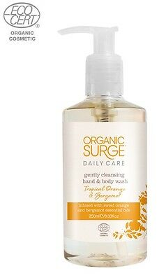 Organic Surge Daily Care Tropical Orange & Bergamot Hand and Body Wash 250ml