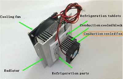 Thermoelectric Peltier Refrigeration Cooling System Kit Cooler