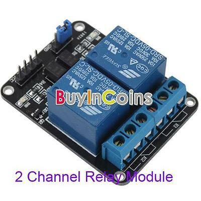 5V 10A 2-Channel Relay Module Shield for Arduino ARM PIC AVR DSP Electronic HF