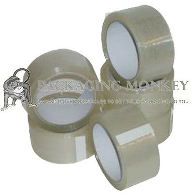 144 Rolls Of Clear Packing Parcel Tape 48mm x 66M