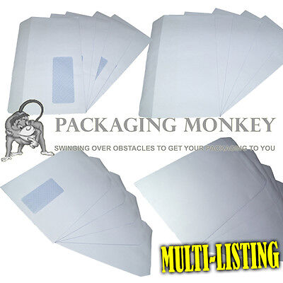 HIGH QUALITY WHITE SELF SEAL ENVELOPES PLAIN & WINDOW C4 C5 DL 90gsm & 100gsm