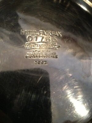 Antique Master Sugar From Hotel Fairfax NEW YORK MARKED PIECESilver Covered Bowl