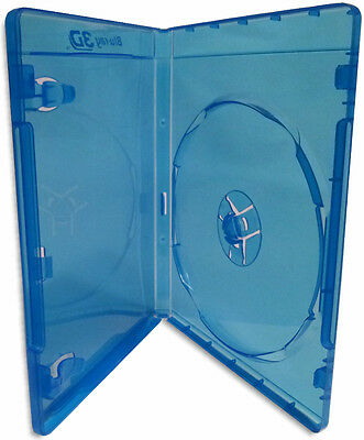 Single =Blu-ray 3D= 12mm Blu-ray Case with Silver Painted Blu-Ray 3D Logo 10-Pak