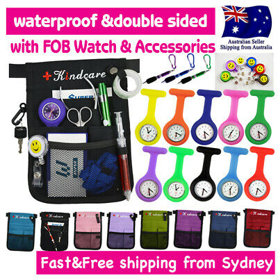 "Nurse Pouch+FOB Watch ""extra pocket"" Nurses Organizer Wallet Pick Bag with Strap"