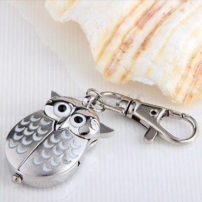 Metal Owl Pocket Pendant Watch Key Ring Chain FASHION New