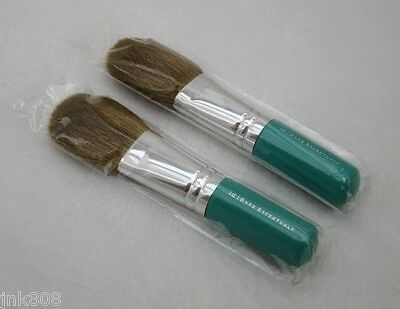 BARE ESCENTUALS Minerals FLAWLESS APPLICATION FACE BRUSH x2 Teal Green NEW $44