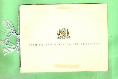 #d66.  1959 Greeting Card From Premier Of Nsw