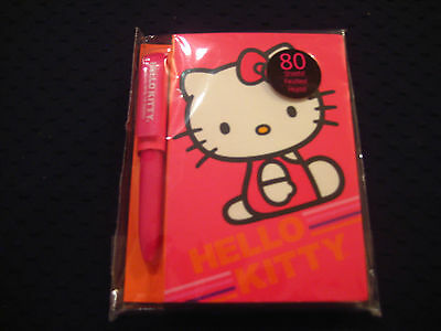Hello Kitty - Mini Memo Pad with Pen - 80 Sheets