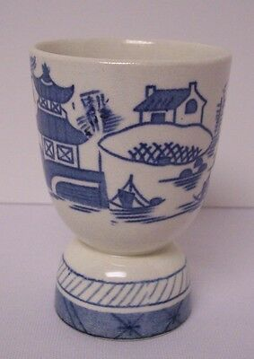 Woods Ware Canton Blue and White Egg Cup Eggcup