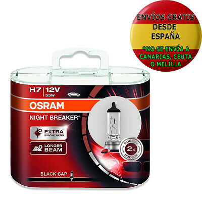 2 Bombillas Osram Night Breaker Unlimited H7 55W 12V Faros Halogeno Coches