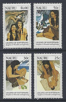 1990 Nauru Legend Of Eoiyepiang Set Of 4  Fine Mint Muh/mnh