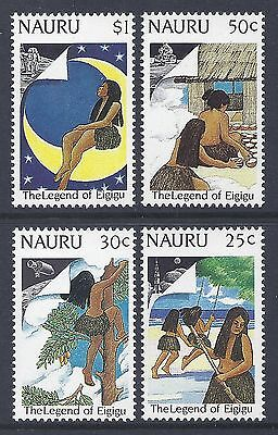 1989 Nauru Legend Of Eigigu/moon Landing Set Of 4  Fine Mint Muh/mnh