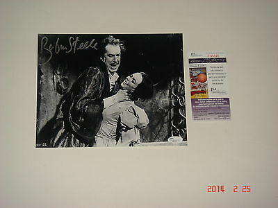 Horror Actress Barbara Steele Signed B/W 8x10 Chocked Vincent Price PROOF JSA