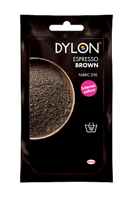 ESPRESSO BROWN DYLON HAND WASH FABRIC CLOTHES DYE 50g TEXTILE PERMANENT COLOUR