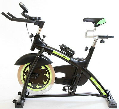 NEW Gym Master Fitness BIKE Cardio Heavy Duty Aerobic Exercise Machine in Black