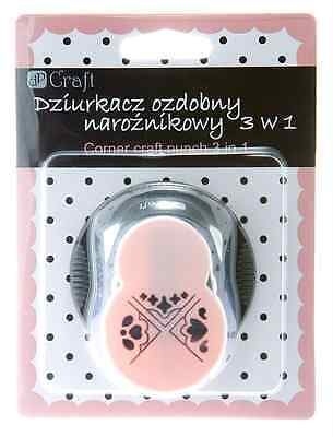 Rounder Corner Craft Punch 2cm ( 3 in 1 LACE ) Card Making Embelishments Paper
