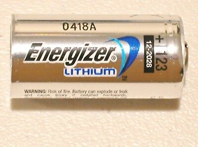 4 NEW ENERGIZER CR123 123 DL123 LITHIUM BATTERY CR123A 1500mAh EXPIRE 12/2028