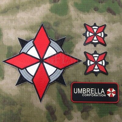 Resident Evil Umbrella  U.S.S Big Back Of The Body Embroidery Patch Suit