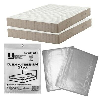 "Queen Size Mattress Cover  61"" x 15"" x 90"" Moving Supplies Pack of 2"