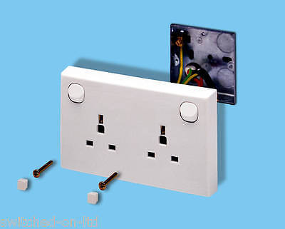 Single Gang To Double Gang Mains Socket Converter