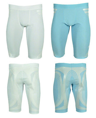 Adidas TechFit Powerweb Hose Tight Shorts weiß hellblau M L XL XXL