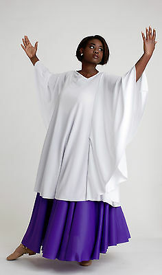 NWT Liturgical Praisewear Top White 1X Adult sizes Polyester knit